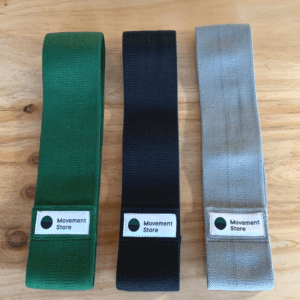 Set of Fabric Resistance Bands in three colours